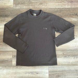 Columbia gray ribbed thermal sweater zip pocket M